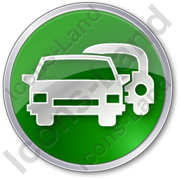Car Rental Service Circle Green Icon, PNG/ICO, 256x256