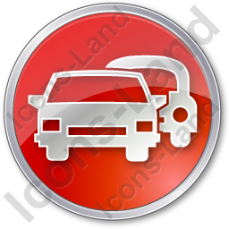 Car Rental Service Circle Red Icon