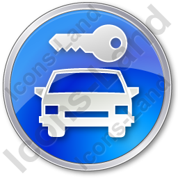 Car Safety Circle Blue Icon, PNG/ICO, 256x256