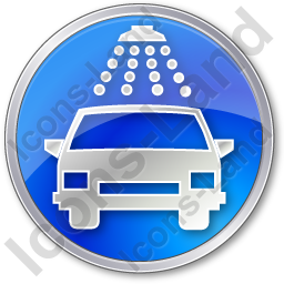 Car Wash Circle Blue Icon, PNG/ICO, 256x256