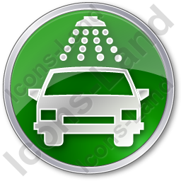 Car Wash Circle Green Icon, PNG/ICO, 256x256