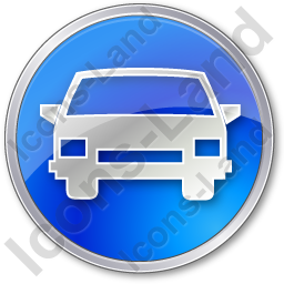 Car Circle Blue Icon, PNG/ICO, 256x256