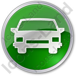 Car Circle Green Icon, PNG/ICO, 256x256