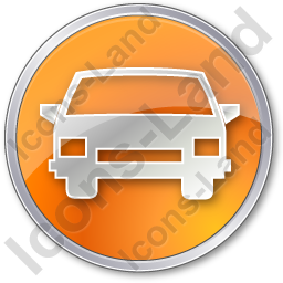 Car Circle Orange Icon, PNG/ICO, 256x256