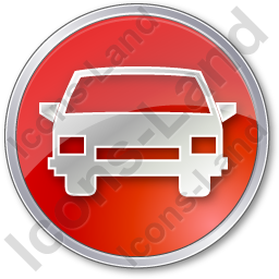 Car Circle Red Icon, PNG/ICO, 256x256