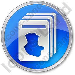 Cards Circle Blue Icon