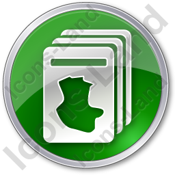 Cards Circle Green Icon