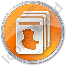Cards Circle Orange Icon, PNG/ICO, 256x256