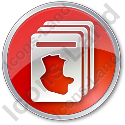 Cards Circle Red Icon