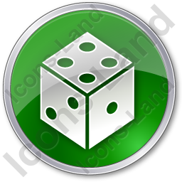 Casino Dice Circle Green Icon