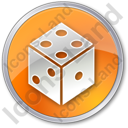 Casino Dice Circle Orange Icon