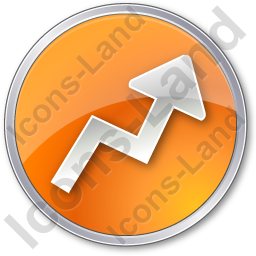 Chart Arrow Circle Orange Icon