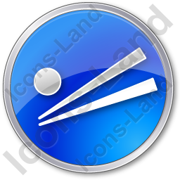 Chopsticks Circle Blue Icon