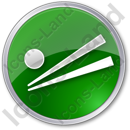 Chopsticks Circle Green Icon