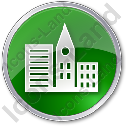 City Circle Green Icon