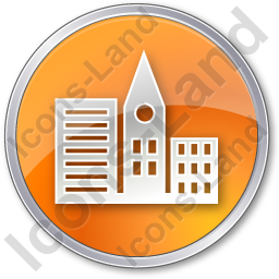 City Circle Orange Icon