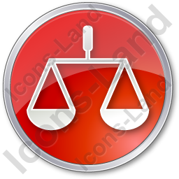 Court Circle Red Icon, PNG/ICO, 256x256