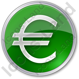 Currency Euro Circle Green Icon