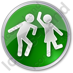 Dancing Circle Green Icon