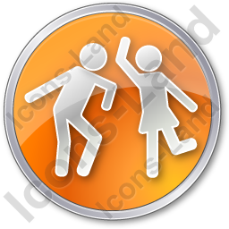Dancing Circle Orange Icon
