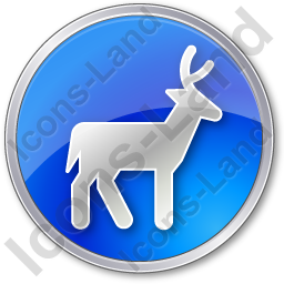 Deer Circle Blue Icon