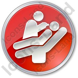 Dentist Treatment Circle Red Icon, PNG/ICO, 256x256