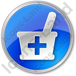 Drugstore Circle Blue Icon