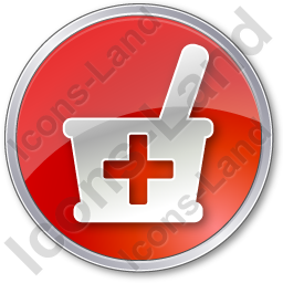 Drugstore Circle Red Icon