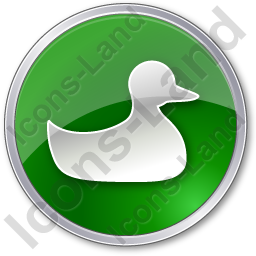 Duck Circle Green Icon