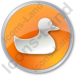 Duck Circle Orange Icon