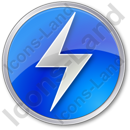 Electricity Sign Circle Blue Icon
