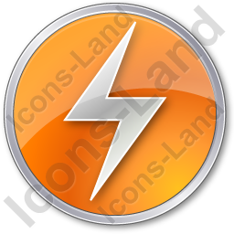 Electricity Sign Circle Orange Icon