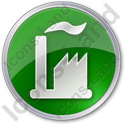 Factory Circle Green Icon