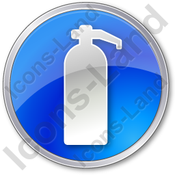 Fire Extinguisher Circle Blue Icon