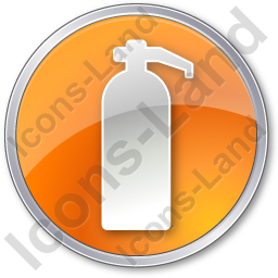 Fire Extinguisher Circle Orange Icon