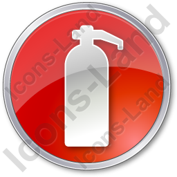 Fire Extinguisher Circle Red Icon