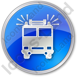 Fire Station Circle Blue Icon, PNG/ICO, 256x256