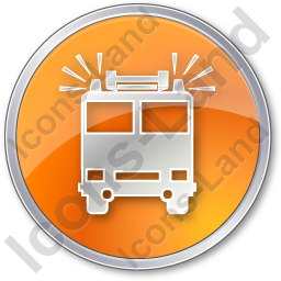 Fire Station Circle Orange Icon, PNG/ICO, 256x256