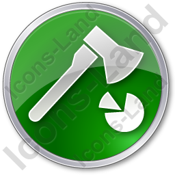 Firewood Cutting Circle Green Icon