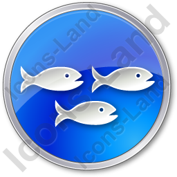 Fish Hatchery Circle Blue Icon, PNG/ICO, 256x256
