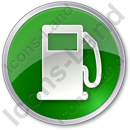 Gas Station Circle Green Icon
