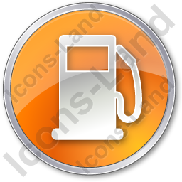 Gas Station Circle Orange Icon