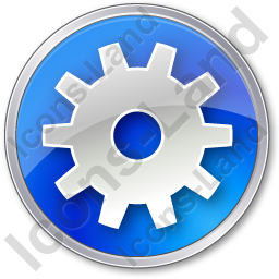 Gear Circle Blue Icon