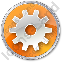 Gear Circle Orange Icon