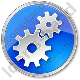 Gears Circle Blue Icon