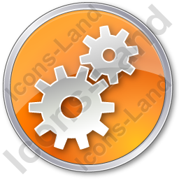 Gears Circle Orange Icon