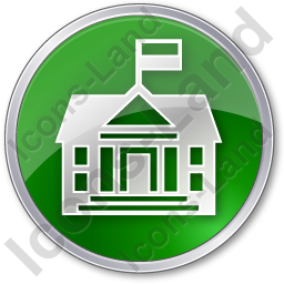 Government Facility Circle Green Icon, PNG/ICO, 256x256