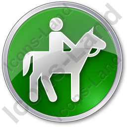 Horse Riding Circle Green Icon