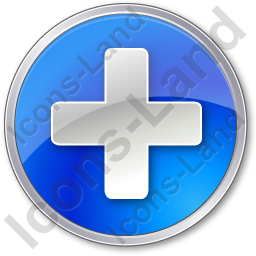 Hospital Cross Circle Blue Icon