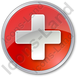 Hospital Cross Circle Red Icon, PNG/ICO, 256x256